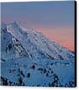 Shuksan Sunset Panorama Canvas Print by Mike Reid