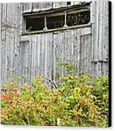 Side Of Barn In Fall Canvas Print by Keith Webber Jr