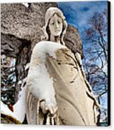 Silent Winter Angel Canvas Print by Gothicolors Donna Snyder