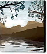 Silkscreen Canvas Print by Cynthia Decker