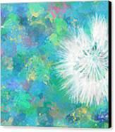 Silverpuff Dandelion Wish Canvas Print by Nikki Marie Smith