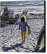 Simpler Times 2 - Miami Beach - Florida Canvas Print by Madeline Ellis