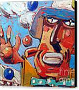 Single Handed Juggling At The Big Top Canvas Print by Charlie Spear