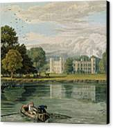 Sion House, Engraved By Robert Havell Canvas Print by William Havell