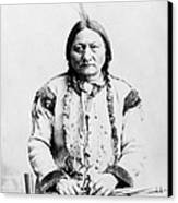 Sitting Bull Canvas Print by War Is Hell Store