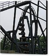 Six Flags Great Adventure - Medusa Roller Coaster - 12124 Canvas Print by DC Photographer