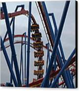 Six Flags Great Adventure - Medusa Roller Coaster - 12125 Canvas Print by DC Photographer