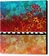 Sizzle Abstract Floral Art Canvas Print by Ann Powell