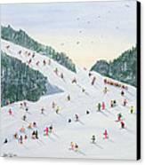 Ski Vening Canvas Print by Judy Joel