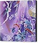 Skiyu Purple Robe Crop Canvas Print by Haruyo Morita