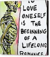 Skull Quoting Oscar Wilde.9 Canvas Print by Fabrizio Cassetta