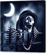 Skull Canvas Print by Tony Cordoza