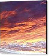Sky On Fire Canvas Print by Les Cunliffe