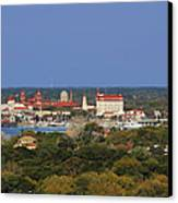 Skyline Of St Augustine Florida Canvas Print by Christine Till