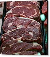 Slabs Of Raw Meat - 5d20691 Canvas Print by Wingsdomain Art and Photography