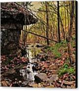 Slate Bottom Creek Canvas Print by Benjamin Yeager