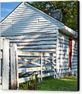 Slave Huts On Southern Farm Canvas Print by Brian Jannsen