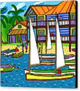 Small Boat Regatta - Cedar Key Canvas Print by Mike Segal