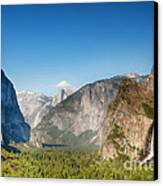 Small Clouds Over The Half Dome Canvas Print by Jane Rix