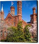 Smithsonian Castle Wall Canvas Print by Inge Johnsson