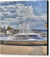 Smothers Park Fountains #1 Canvas Print by Wendell Thompson