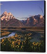 Snake River Panorama Canvas Print by Andrew Soundarajan