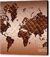 Snake Skin World Map Canvas Print by Zaira Dzhaubaeva