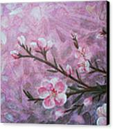 Snow Blossom Canvas Print by Arlissa Vaughn