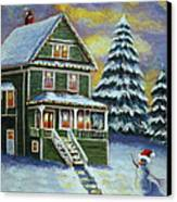 Snow Day Canvas Print by Melanie Cossey