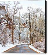 Snow Dusted Colorado Scenic Drive Canvas Print by James BO  Insogna