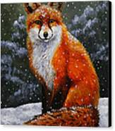 Snow Fox Canvas Print by Crista Forest