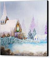 Snow In Florida Canvas Print by David Kacey