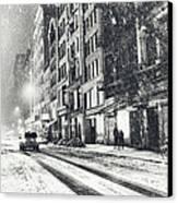 Snow - New York City - Winter Night Canvas Print by Vivienne Gucwa