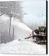 Snow Plow Canvas Print by Mark Newman