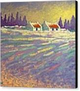 Snow Scape County Wicklow Canvas Print by John  Nolan