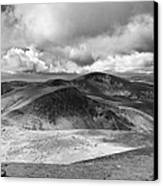 Snowdonia Panorama In Black And White Canvas Print by Jane Rix
