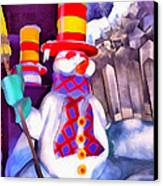 Snowman Canvas Print by George Rossidis