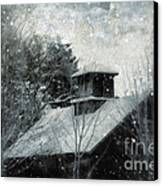 Snowy Night Canvas Print by HD Connelly