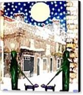 Snowy Night Canvas Print by Patrick J Murphy