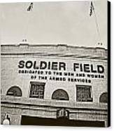 Soldier Field Canvas Print by Jessie Gould