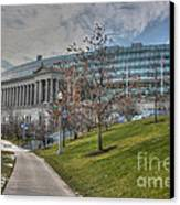 Soldier Field Renovated Canvas Print by David Bearden