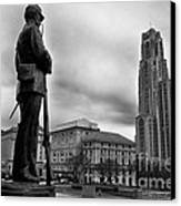 Soldiers Memorial And Cathedral Of Learning Canvas Print by Thomas R Fletcher