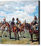 Soldiers On Horseback Canvas Print by Jean-Louis Ernest Meissonier