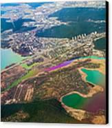 Somewhere Over Latvia. Rainbow Earth Canvas Print by Jenny Rainbow