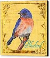 Colorful Songbirds 1 Canvas Print by Debbie DeWitt