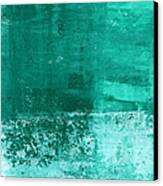 Soothing Sea - Abstract Painting Canvas Print by Linda Woods