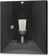 Soundproof Toilet Cubicle Canvas Print by Allan Swart
