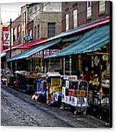 South Philly Italian Market Canvas Print by Bill Cannon