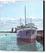 Southampton Docks Ss Shieldhall Ship Canvas Print by Martin Davey