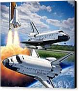 Space Shuttle Montage Canvas Print by Stu Shepherd
